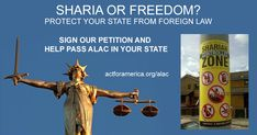 ACT for America Launches New ALAC Push | actforamerica.org | ACT for America has played a key role in getting ALAC (American Laws for American Courts) passed in Tennessee, Louisiana, Oklahoma, Kansas, Arizona, Alabama, North Carolina, Florida, Mississippi, and South Dakota. ALAC prohibits state judges from applying foreign law, which can include sharia law, when doing so infringes on constitutional rights.