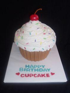 Big Cupcake for my nephews birthday!!!!