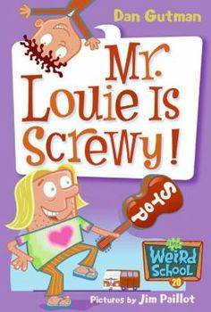 Mr. Louie Is Screwy!  (Book) : Gutman, Dan : When the hippie crossing guard, Mr. Louie, puts a love potion in the water fountain before Valentine's Day, everyone at Ella Mentry School falls in love.