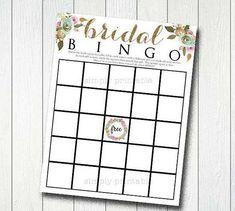 Printable Bridal Bingo 8.5 x 11 PDF Bridal Shower