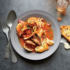 Fisherman's-Style Seafood Stew | This Fisherman's-Style Seafood Stew is the perfect way to warm up with a variety of seafood. Get the recipe from Food & Wine.