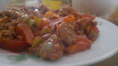 Mittagsteller Hackfleisch Gemüse