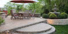 Love this stone deck!