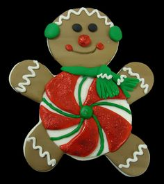 This Gingerbread Man with Candy Copper Cookie Cutter was designed by Susan Carberry.    Its size is 5 1/2H x 4 3/4W x 1D    This Gingerbread