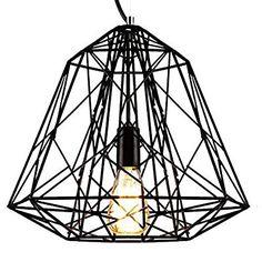 Lightess Retro Design Deckenleuchte Hängelampe Deckenlampe Hängeleuchte Industria / Deckenleuchte Hängeleuchte / Vintage / Retro Design / Industrial Design (Schwarz)