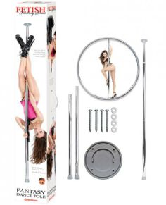 Turn your bedroom or living room into your very own private dance stage with the Fetish Fantasy Series Fantasy Dance Pole from Pipedream. You're the star and your room's the stage for you to act out your most erotic dance pole fantasies!