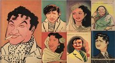 R. K. Laxman Sketch of Bollywood Stars