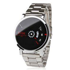 Unisex Binary Display Black Dial Silver Alloy Band Wrist Watch – USD $ 8.99