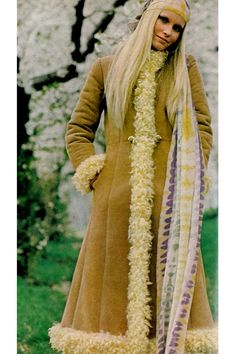 Gunilla Lindblad photographed by Zachariasen for Vogue, 1970. {had a coat just like this in dark red. loved it!}