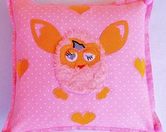 Pink Decorative Pillow+Nursery Pillow+Kids Pillow Case+Children's Pillow+Pillow Pink for Girls+Baby Gifts for Girls+Girls Bedding+Furby