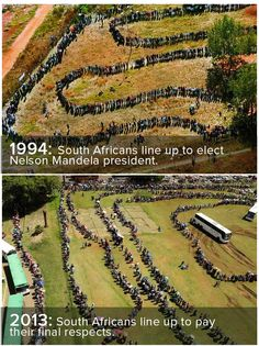 Two Photos That Show How Much South Africans Loved Nelson Mandela