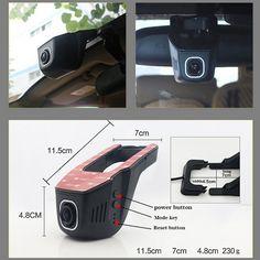 For Ford Focus/ Car Driving Video Recorder DVR Mini Control APP Wifi Camera Black Box / Registrator Dash Cam Original Style