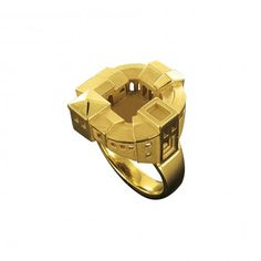 Philippe Tournaire XS Fortified Village Architecture Ring