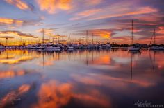 Sunrise and reflections. Mission Bay, San Diego, CA  Photo by Alex Baltov Photography... Beautiful as usual!