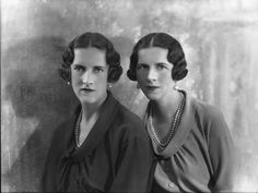 Princess Helen (Crown Princess/Queen Mother of Romania) and Irene (Duchess of Aosta, Queen Consort of Croatia) of Greece and Denmark. Oldenburg, Greek Royalty, Greek Royal Family, Princess Katherine, Grand Duchess Olga, Queen Mother, National Portrait Gallery, Royal House, Big Family
