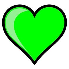 Neon Green Bubble Heart clip art ❤ liked on Polyvore featuring accessories