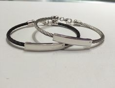 Stainless & Diamond Bar Bracelets the perfect gift