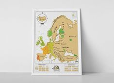 Scratch Map® Europe is a detailed map of Europe featuring a silver foil layer which when removed can record your trips abroad! Europe News, Tourist Map, European Home Decor, Travel Wallpaper, Best Kitchen Designs, Scratch Off, Gadget Gifts, Travel Maps, Corporate Gifts