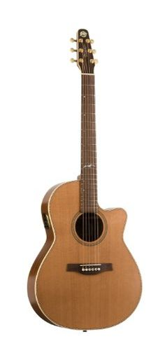 Seagull Artist Mosaic CW Folk QII Acoustic Electric Guitar -- Click image to review more details.