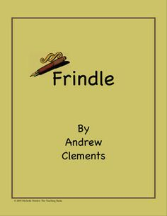This is a custom written literature unit to be used with Frindle by Andrew Clements. This unit is designed to be used with some student/instructor ...