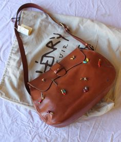 Tribu cross body tote with tribal beads and embroidery