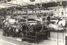 Letterpress printing press at George Waterstons