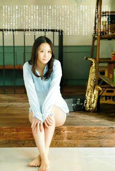 "SKE48 Nao Furuhata ""Sax no aru Heya"" on Flash Special Magazine"