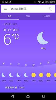 理系アパート回覧板: Googleアプリで天気予報を見よう!(Android編)