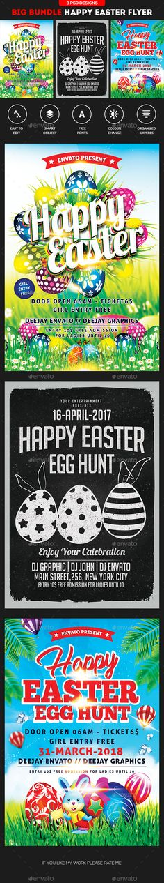 Easter Egg Hunt Flyer Party events, Flyers and Colors