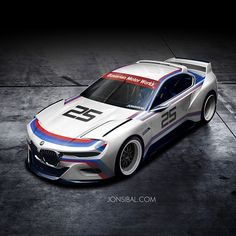 BMW 3.0 CSL Hommage Concept in racing colors - http://www.bmwblog.com/2015/05/26/bmw-3-0-csl-hommage-concept-in-racing-colors/