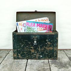 Vintage Industrial Metal Utility Box with by leapinglemming, $26.95