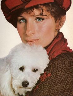 Barbra with her dog in 1978