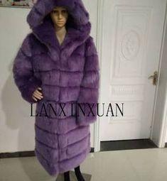 Fashion Womens Hooded Winter Faux Fur Coat Warm Silm Outdoor Long Coat
