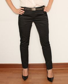 Black Cigarette Pants Slim Fit Skinny Trousers for by KSclothing, $35.00