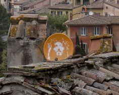 Satellite dish in Perugia