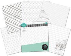 """Heidi Swapp Color Magic 12""""x12"""" Resist Paper Pack"""