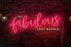 The Fabulous Font Bundle from DesignBundles.net