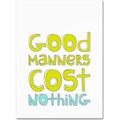 Trademark Fine Art Good Manners Canvas Art by Megan Romo, Size: 35 x 47, Multicolor