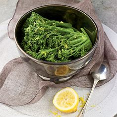 Holiday Sides | Buttery Lemon Broccolini | CookingLight.com