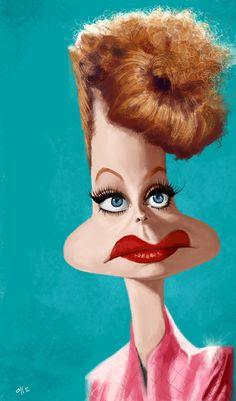 [ Lucille Ball ]- artist: Olle Magnusson - website: http://karikatyrer-ollemagnusson.blogspot.ca/