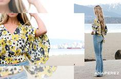 La influencer del blog A Fashion Love Affair con una blusa Ana Perez. Esperala proximamente ;)
