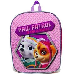 "Junior Girls Paw Patrol ""Is on a Roll"" Backpack (stock Item)"