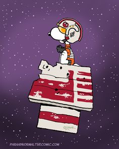 "chaosneverwhere: ""I love imagination. #starwars #snoopy """