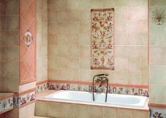 hand painted wall tiles for bathroom