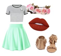 """""""Peace and love"""" by abigaelf on Polyvore featuring mode, WithChic, Qupid et Lime Crime"""
