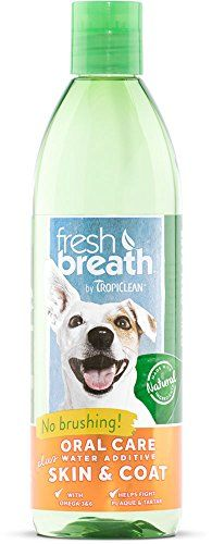 TropiClean Fresh Breath Oral Care Water Additive Plus Skin  Coat 16oz ** More info could be found at the affiliate link Amazon.com on image.