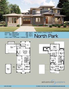 Family House Plans, Dream House Plans, Modern House Plans, House Floor Plans, Prairie House, Prairie Style Houses, American Houses, House Blueprints, Sims House