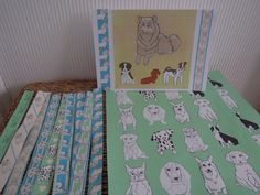Hand made wrap paper, washi tape and card for doggy lovers
