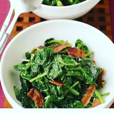 Kids demand spinach - with bacon again. Going to serve this with salmon tonight.... Recipe here:  http://ift.tt/2lNoHD7 #healthychoices  #healthycooking #family #familydinner #JoiceOfCooking                                                                                                                                                                                                                                                                                                                                                                                                                                                           Instagram