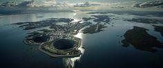 mine de diamant | Cet énorme trou sur une île est la mine de diamants Diavik (PHOTOS)